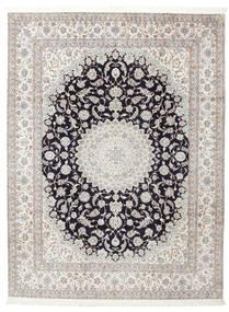 Nain 6La Signert: Habibian Teppe 205X271 Ekte Orientalsk Håndknyttet (Ull/Silke, Persia/Iran)