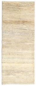 Gabbeh Persia Teppe 80X205 Ekte Moderne Håndknyttet Teppeløpere Beige/Mørk Beige (Ull, Persia/Iran)
