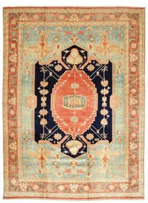 Heriz Teppe 405X540 Ekte Orientalsk Håndknyttet Mørk Beige/Lysgrønn Stort (Ull, Persia/Iran)