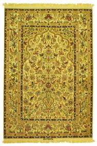 Isfahan Silke Renning Figur/Bilde Signert: Nasr Teppe 142X210 Ekte Orientalsk Håndknyttet (Ull/Silke, Persia/Iran)
