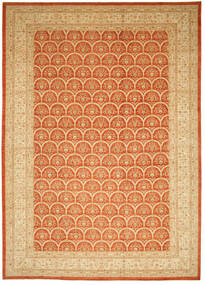 Ziegler Teppe 426X603 Ekte Orientalsk Håndknyttet Mørk Beige/Orange Stort (Ull, Pakistan)