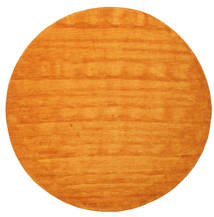 Handloom - Oransje Teppe Ø 300 Moderne Rundt Gul/Orange/Lysbrun Stort (Ull, India)