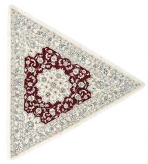 Nain 9La Teppe 250X250 Ekte Orientalsk Håndknyttet Beige/Lys Grå Stort (Ull/Silke, Persia/Iran)