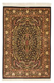 Ghom Silke Signert: Ghom Mohammadi Teppe 101X150 Ekte Orientalsk Håndknyttet Mørk Brun/Brun (Silke, Persia/Iran)