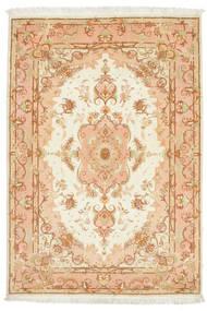 Tabriz 50 Raj Teppe 106X152 Ekte Orientalsk Håndknyttet (Ull/Silke, Persia/Iran)