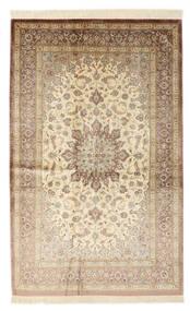 Ghom Silke Signert: Ghom Vafai Teppe 129X200 Ekte Orientalsk Håndknyttet Beige/Mørk Brun (Silke, Persia/Iran)