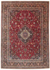 Keshan Teppe 275X385 Ekte Orientalsk Håndknyttet Mørk Rød/Mørk Brun Stort (Ull, Persia/Iran)