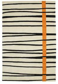 Gummi Twist Handtufted - Oransje Teppe 200X300 Moderne Mørk Beige/Svart (Ull, India)