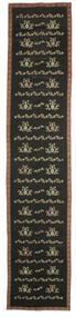 Kelim Bulgarian Teppe 174X850 Ekte Orientalsk Håndvevd Teppeløpere Mørk Grå (Ull, Bulgaria)