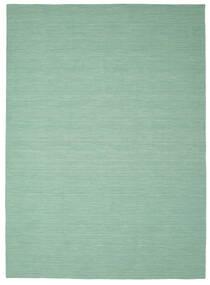 Kelim Loom - Mint Grønn Teppe 250X350 Ekte Moderne Håndvevd Pastell Grønn/Turkis Blå Stort (Ull, India)