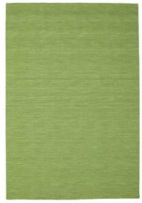 Kelim Loom - Grønn Teppe 200X300 Ekte Moderne Håndvevd Olivengrønn/Lysgrønn (Ull, India)