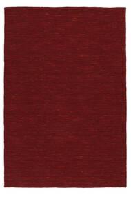 Kelim Loom - Mørk Rød Teppe 160X230 Ekte Moderne Håndvevd Rød (Ull, India)