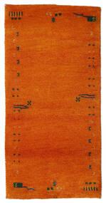 Gabbeh Indisk Teppe 72X143 Ekte Moderne Håndknyttet Orange/Rust (Ull, India)