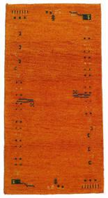 Gabbeh Indisk Teppe 71X140 Ekte Moderne Håndknyttet Orange/Lysbrun (Ull, India)