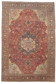 Farahan Teppe 368X550 Ekte Orientalsk Håndknyttet Mørk Rød/Brun Stort (Ull, Persia/Iran)