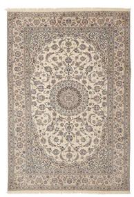 Nain 6La Habibian Teppe 205X312 Ekte Orientalsk Håndknyttet Lys Grå/Beige (Ull/Silke, Persia/Iran)