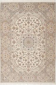 Nain 6La Habibian Teppe 205X303 Ekte Orientalsk Håndknyttet Lys Grå/Beige (Ull/Silke, Persia/Iran)