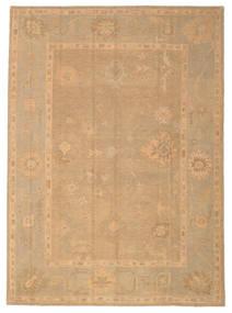Usak Teppe 226X310 Ekte Orientalsk Håndknyttet Mørk Beige/Lysbrun (Ull, Tyrkia)