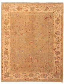 Usak Teppe 237X296 Ekte Orientalsk Håndknyttet Lysbrun/Mørk Beige (Ull, Tyrkia)