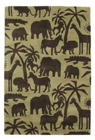 Africa Handtufted Teppe 120X180 Moderne Mørk Brun/Olivengrønn/Lysgrønn (Ull, India)
