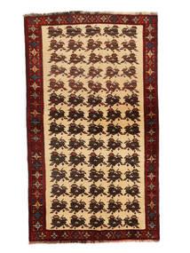 Ghashghai Teppe 127X205 Ekte Orientalsk Håndknyttet Mørk Rød/Mørk Beige (Ull, Persia/Iran)