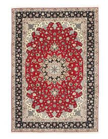 Tabriz 50 Raj Silkerenning Teppe 200X310 Ekte Orientalsk Håndknyttet Lys Grå/Mørk Grå (Ull/Silke, Persia/Iran)