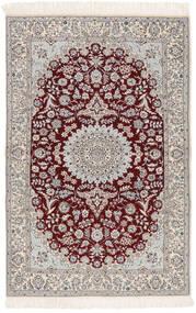 Nain 6La Teppe 103X163 Ekte Orientalsk Håndknyttet Beige/Lys Grå (Ull/Silke, Persia/Iran)