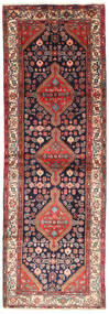 Hamadan Teppe 102X305 Ekte Orientalsk Håndknyttet Teppeløpere Mørk Rød/Brun (Ull, Persia/Iran)