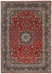 Ilam Sherkat Farsh Silke Teppe 245X350 Ekte Orientalsk Håndknyttet Mørk Rød/Mørk Brun/Mørk Grå (Ull/Silke, Persia/Iran)