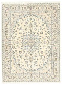 Nain 9La Teppe 146X200 Ekte Orientalsk Håndknyttet Beige/Lys Grå (Ull/Silke, Persia/Iran)