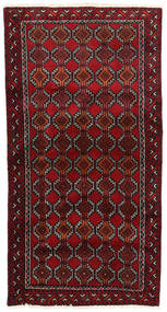 Beluch Teppe 93X178 Ekte Orientalsk Håndknyttet Mørk Rød (Ull, Persia/Iran)