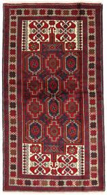 Beluch Teppe 106X192 Ekte Orientalsk Håndknyttet Mørk Rød/Svart (Ull, Persia/Iran)