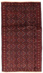 Beluch Teppe 94X166 Ekte Orientalsk Håndknyttet Mørk Rød/Mørk Brun (Ull, Persia/Iran)