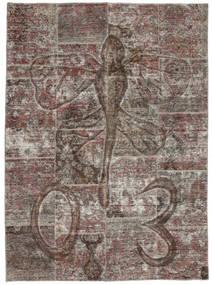 Patchwork Teppe 174X240 Ekte Moderne Håndknyttet Mørk Grå/Lys Grå (Ull, Persia/Iran)