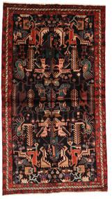Nahavand Teppe 137X245 Ekte Orientalsk Håndknyttet Mørk Rød/Mørk Brun (Ull, Persia/Iran)