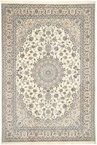 Nain 6La Habibian Teppe 208X306 Ekte Orientalsk Håndknyttet Lys Grå/Beige (Ull/Silke, Persia/Iran)