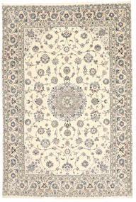 Nain 6La Habibian Teppe 200X296 Ekte Orientalsk Håndknyttet Lys Grå/Beige (Ull/Silke, Persia/Iran)