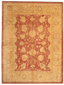 Usak Teppe 312X412 Ekte Orientalsk Håndknyttet Lysbrun Stort (Ull, Tyrkia)