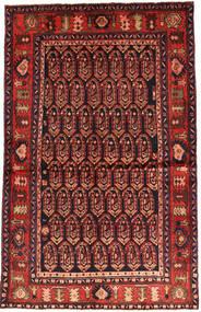 Nahavand Teppe 130X206 Ekte Orientalsk Håndknyttet Mørk Rød/Rust (Ull, Persia/Iran)