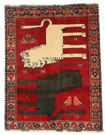 Ghashghai Figur/Bilde Teppe 133X172 Ekte Orientalsk Håndknyttet Rust/Mørk Grå (Ull, Persia/Iran)