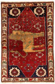 Ghashghai Figur/Bilde Teppe 130X200 Ekte Orientalsk Håndknyttet Mørk Rød/Rust (Ull, Persia/Iran)