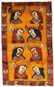 Ghashghai Teppe 102X170 Ekte Orientalsk Håndknyttet Lysbrun/Orange (Ull, Persia/Iran)