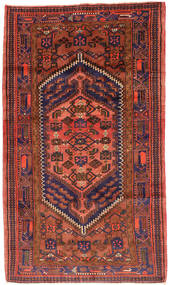 Hamadan Teppe 143X247 Ekte Orientalsk Håndknyttet Mørk Rød/Rød (Ull, Persia/Iran)