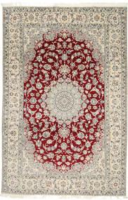 Nain 9La Teppe 202X310 Ekte Orientalsk Håndknyttet Lys Grå/Beige (Ull/Silke, Persia/Iran)