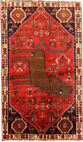 Ghashghai Teppe 130X220 Ekte Orientalsk Håndknyttet Rust/Mørk Brun (Ull, Persia/Iran)