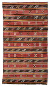 Kelim Halvt Antikke Tyrkiske Teppe 176X315 Ekte Orientalsk Håndvevd Rust/Mørk Rød (Ull, Tyrkia)