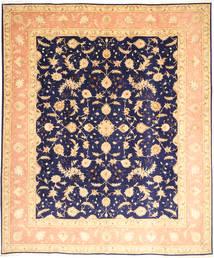 Tabriz 50 Raj Med Silke Teppe 252X300 Ekte Orientalsk Håndknyttet Mørk Beige/Mørk Lilla Stort (Ull/Silke, Persia/Iran)