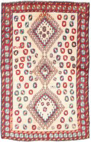 Ghashghai Teppe 120X188 Ekte Orientalsk Håndknyttet Beige/Lys Grå (Ull, Persia/Iran)