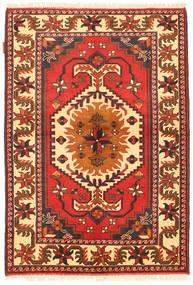 Kazak Teppe 105X154 Ekte Orientalsk Håndknyttet Orange/Beige (Ull, Pakistan)