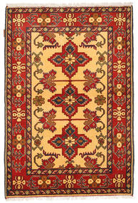Kazak Teppe 106X161 Ekte Orientalsk Håndknyttet Lysbrun/Rød (Ull, Pakistan)